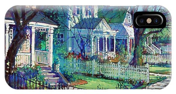 Neighborhood iPhone Case - Spring Morning On East Street by Dan Nelson