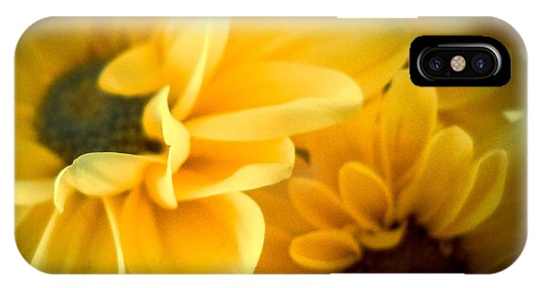 IPhone Case featuring the photograph Spring Mums by Judy Hall-Folde