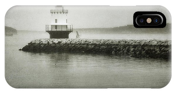 Navigation iPhone Case - Spring Point Ledge Light by Joan Carroll
