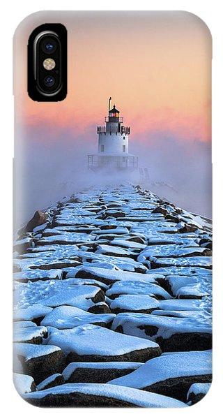 Spring Point Sea Smoke IPhone Case