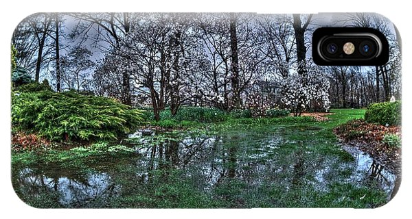 Spring Rains In The Garden IPhone Case