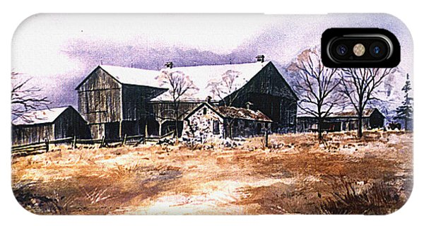 New England Barn iPhone Case - Spring Thaw by Hanne Lore Koehler