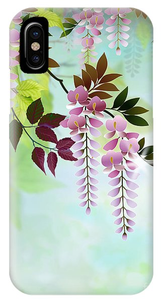 Shrub iPhone Case - Spring Wisteria by Peter Awax