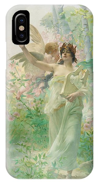 Awakening iPhone Case - Springtime Allegory by Paul Francois Quinsac