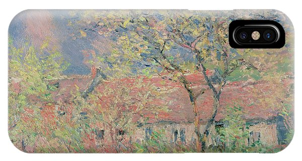 Orchard iPhone Case - Springtime At Giverny by Claude Monet