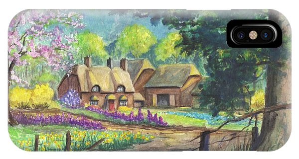 Springtime Cottage IPhone Case