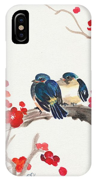 Springtime Sweethearts IPhone Case