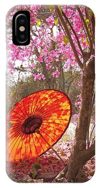 Springtime Umbrella IPhone Case