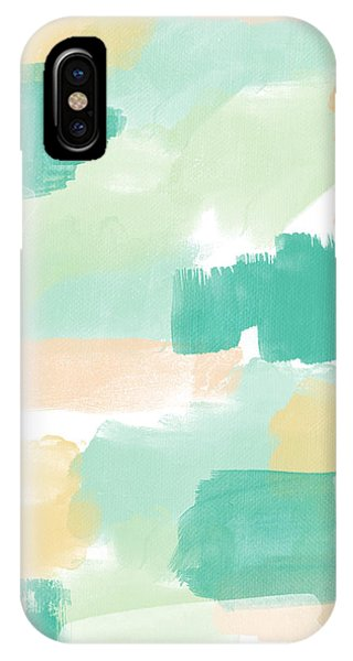 Aqua iPhone Case - Spumoni- Abstract Painting by Linda Woods