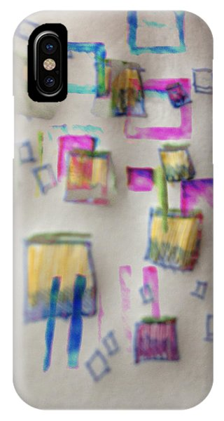 Squares At School Phone Case by Robert M Cooper
