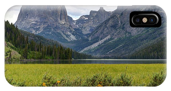 Squaretop Mountain And Upper Green River Lake  IPhone Case