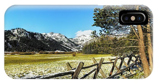iPhone Case - Squaw Valley Fence by Nancy Marie Ricketts