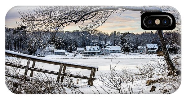 Squeteague Harbor Winter IPhone Case