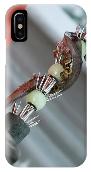Squid iPhone Case - Squid Lure by Louise Murray/science Photo Library