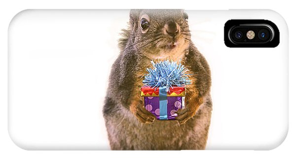 Squirrel With Gift IPhone Case