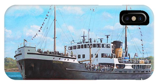 Ss Shieldhall On A Cruise In The Solent IPhone Case