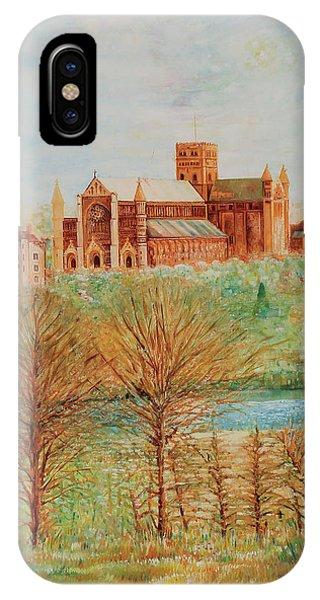 St Albans Abbey - Autumn View IPhone Case