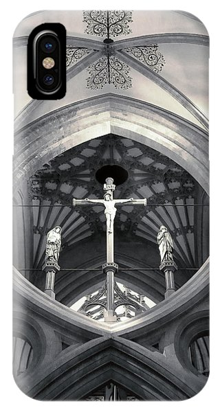 St Andrews Cross Scissor Arches Of Wells Cathedral  IPhone Case