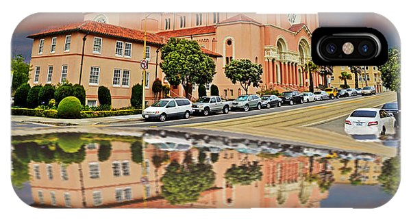 St Anne Church Of The Sunset In San Francisco With A Reflection  IPhone Case