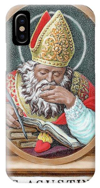 St Augustine (354-430 IPhone Case