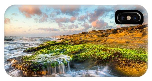 St. Augustine Fl Beach Sunrise - The Coquina Coast IPhone Case