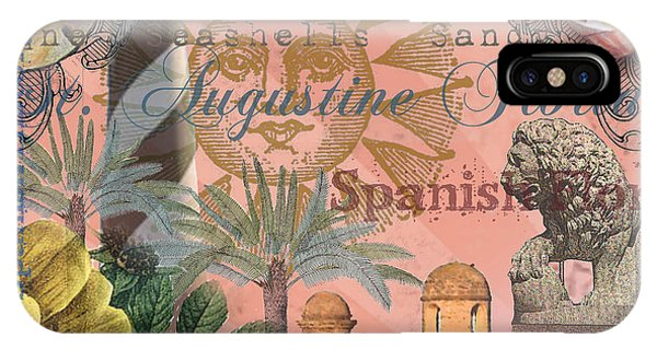 St. Augustine Florida Vintage Collage IPhone Case
