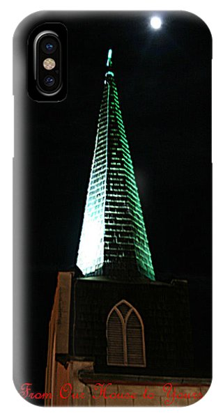 St. Augustine Moon Christmas Card IPhone Case