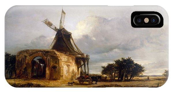 St Benets Abbey And Mill, Norfolk, 1833 IPhone Case