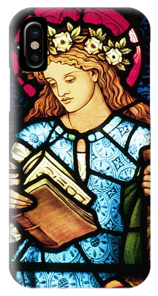 Pre-modern iPhone Case - St Catherine Of Alexandria In Stained Glass by Philip Ralley