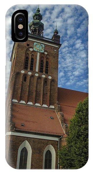St. Catherine's Church In Gdansk Phone Case by Adam Budziarek