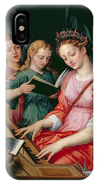 Saint Cecilia Accompanied By Three Angels IPhone Case