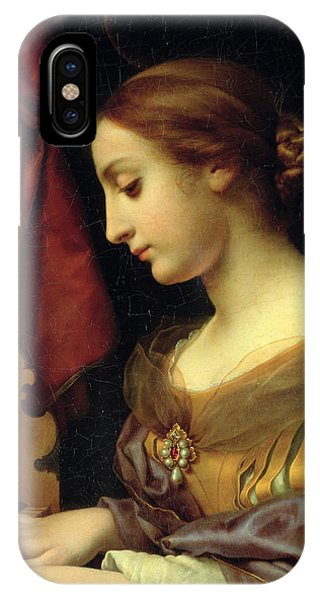 Organ iPhone Case - St. Cecilia by Carlo Dolci