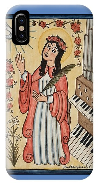 St. Cecilia With Organ And Dove IPhone Case