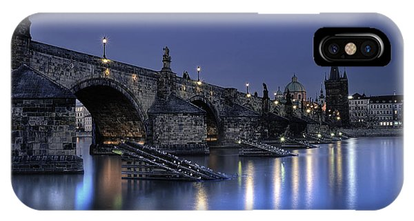 IPhone Case featuring the photograph St Charles Bridge by Ryan Wyckoff