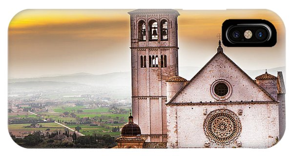 St Francis Of Assisi Church At Sunrise  Phone Case by Susan Schmitz
