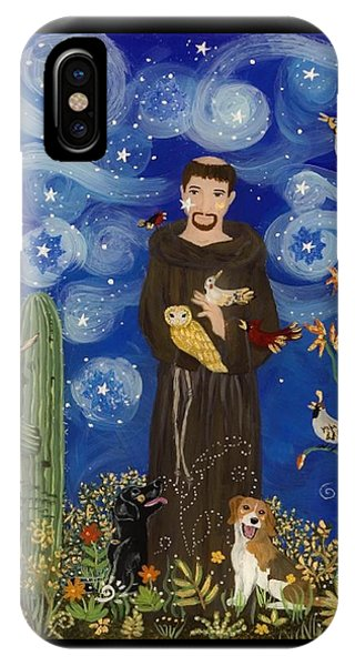 St. Francis Starry Night IPhone Case