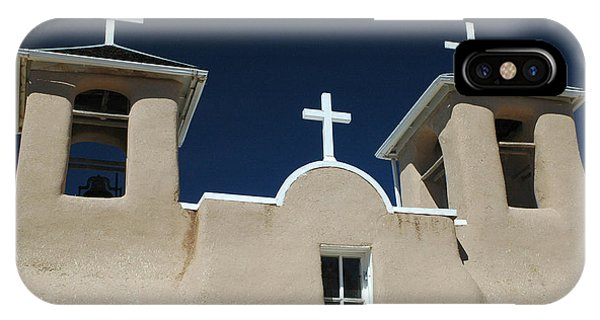 IPhone Case featuring the photograph St. Francis Taos by Michael Kirk