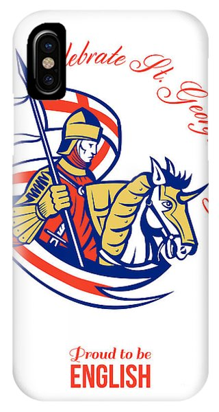 St. George Day Celebration Proud To Be English Retro Poster Phone Case by Aloysius Patrimonio