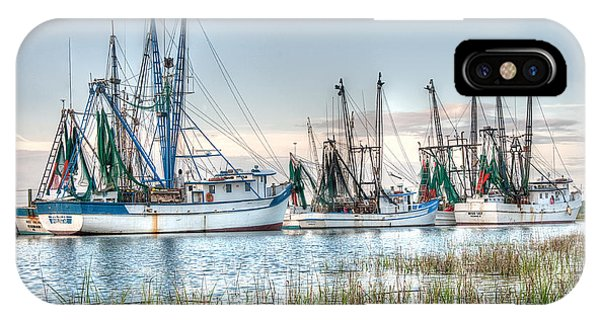 St. Helena Island Shrimp Boats IPhone Case