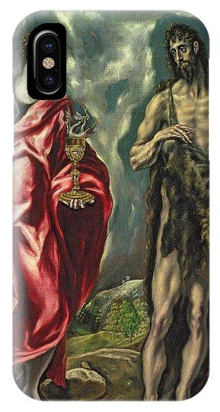 St John The Evangelist And St John The Baptist IPhone Case