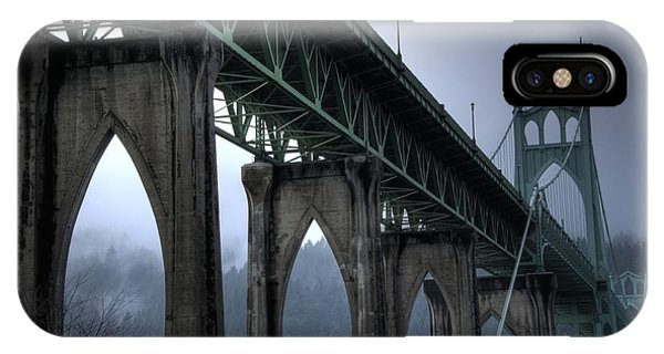 St Johns Bridge Oregon IPhone Case
