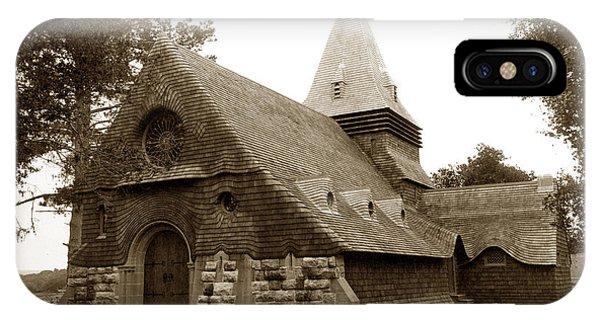 St. Johns Chapel Del Monte Monterey California 1895 IPhone Case