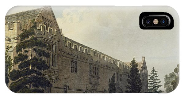 Pub iPhone Case - St Johns College Seen From The Garden by Frederick Mackenzie