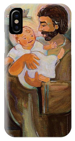 St. Joseph And Baby Jesus IPhone Case