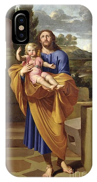 Life Of Christ iPhone Case - St. Joseph Carrying The Infant Jesus by Pierre  Letellier