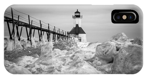 St. Joseph Lighthouse In Ice Field IPhone Case