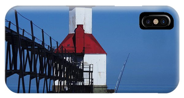 St Joseph North Point Lighthouse Phone Case by Rose Clark