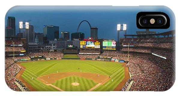 St. Louis Cardinals Busch Stadium Pano 5 IPhone Case