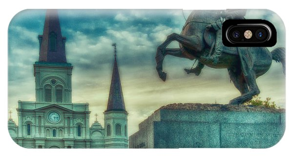 St. Louis Cathedral And Andrew Jackson- Artistic IPhone Case