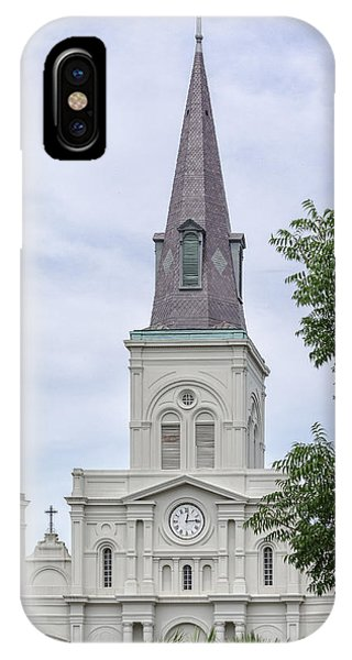 St. Louis Cathedral Through Trees IPhone Case